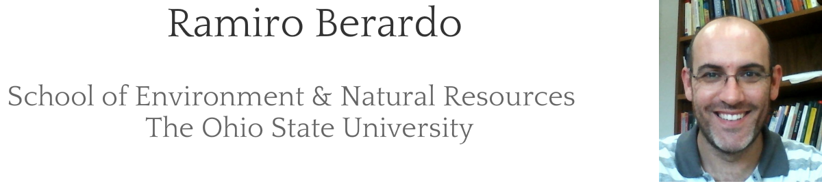 Ramiro BerardoSchool of Environment & Natural ResourcesThe Ohio State University